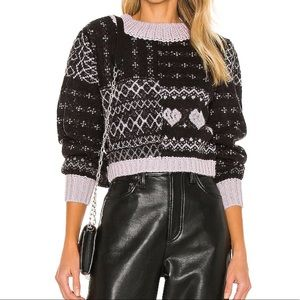 New Free People Sweater Cropped Wool Alpaca Blend